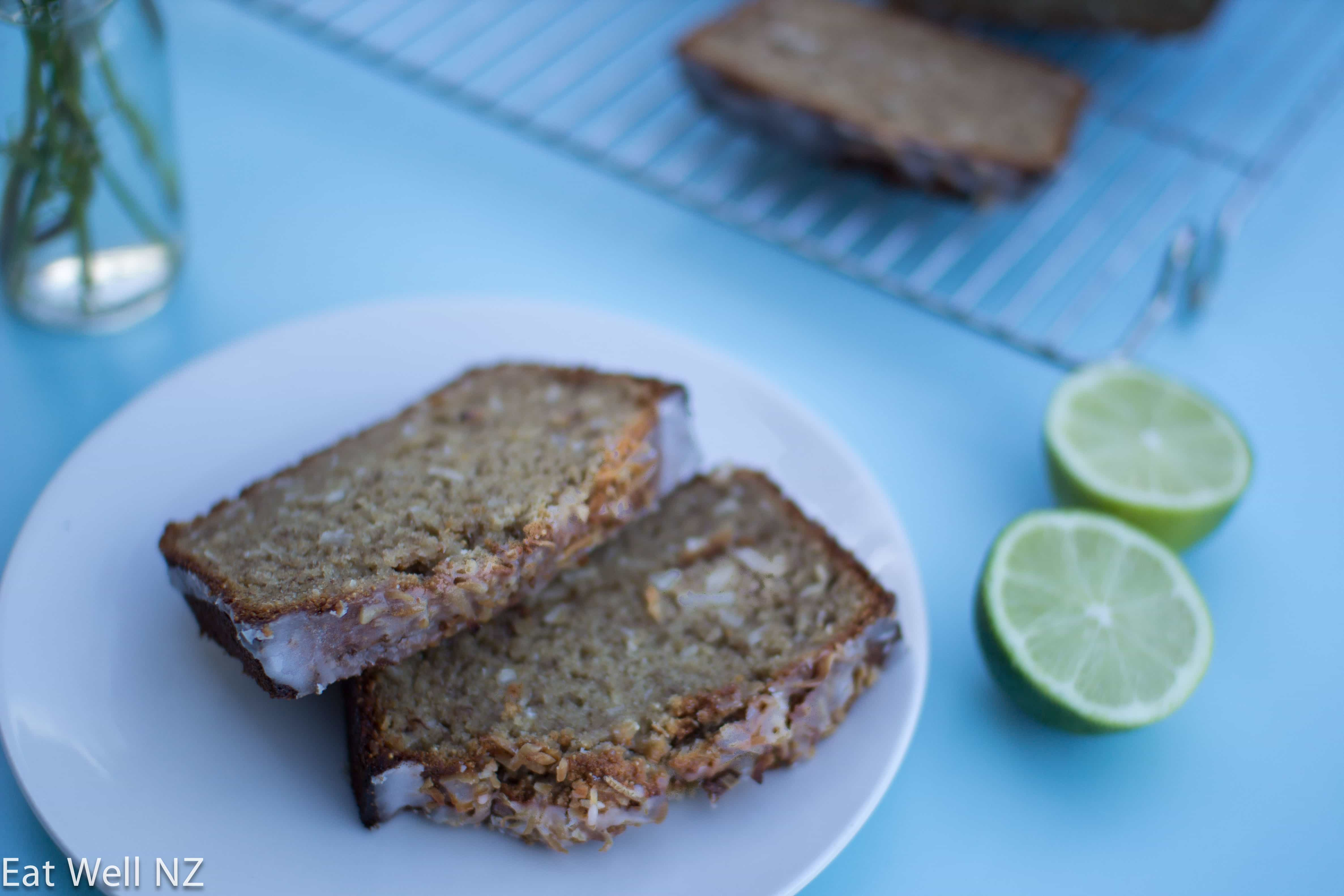 Banana and Coconut Loaf with Lime Drizzle
