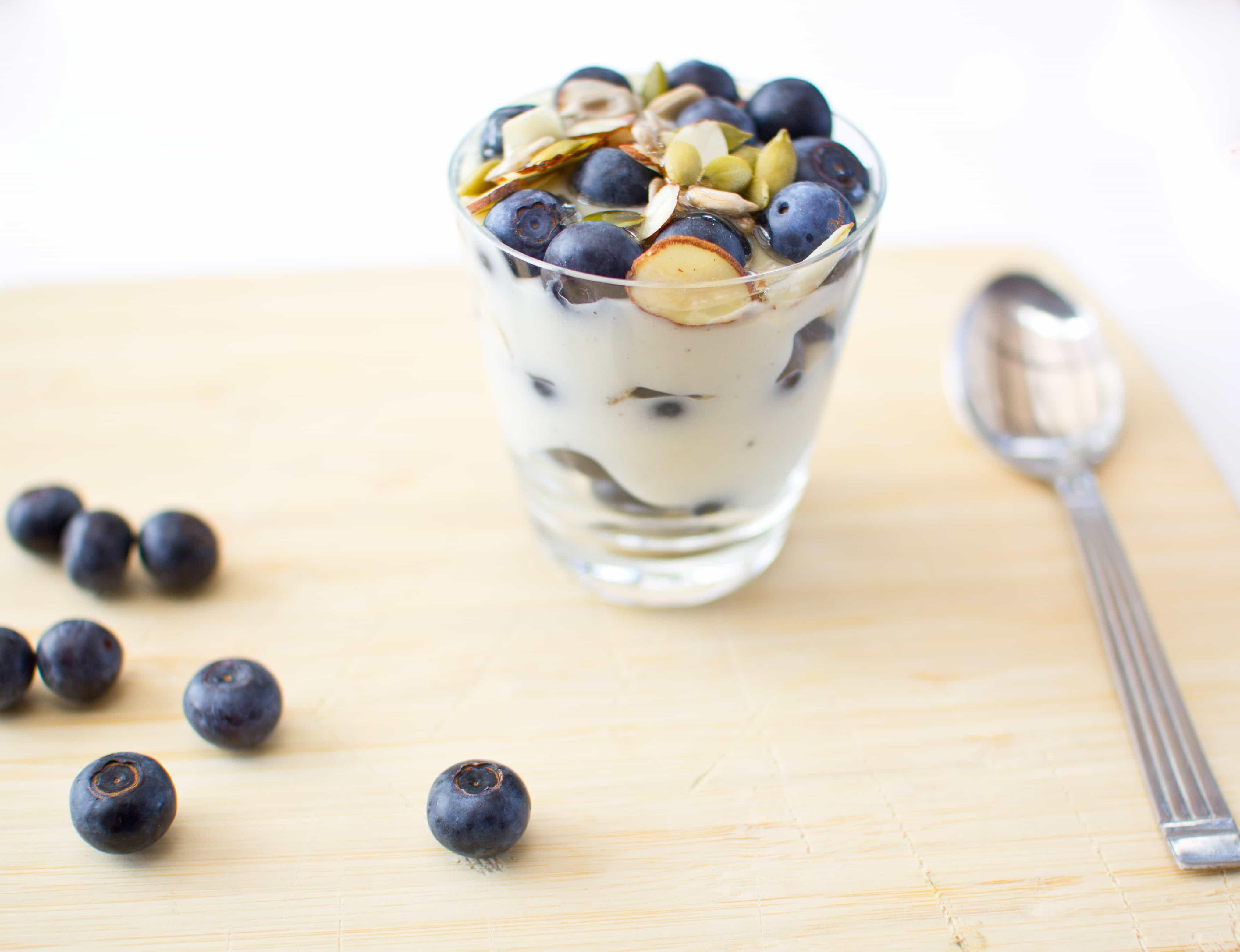 Vanilla & Blueberry Parfait