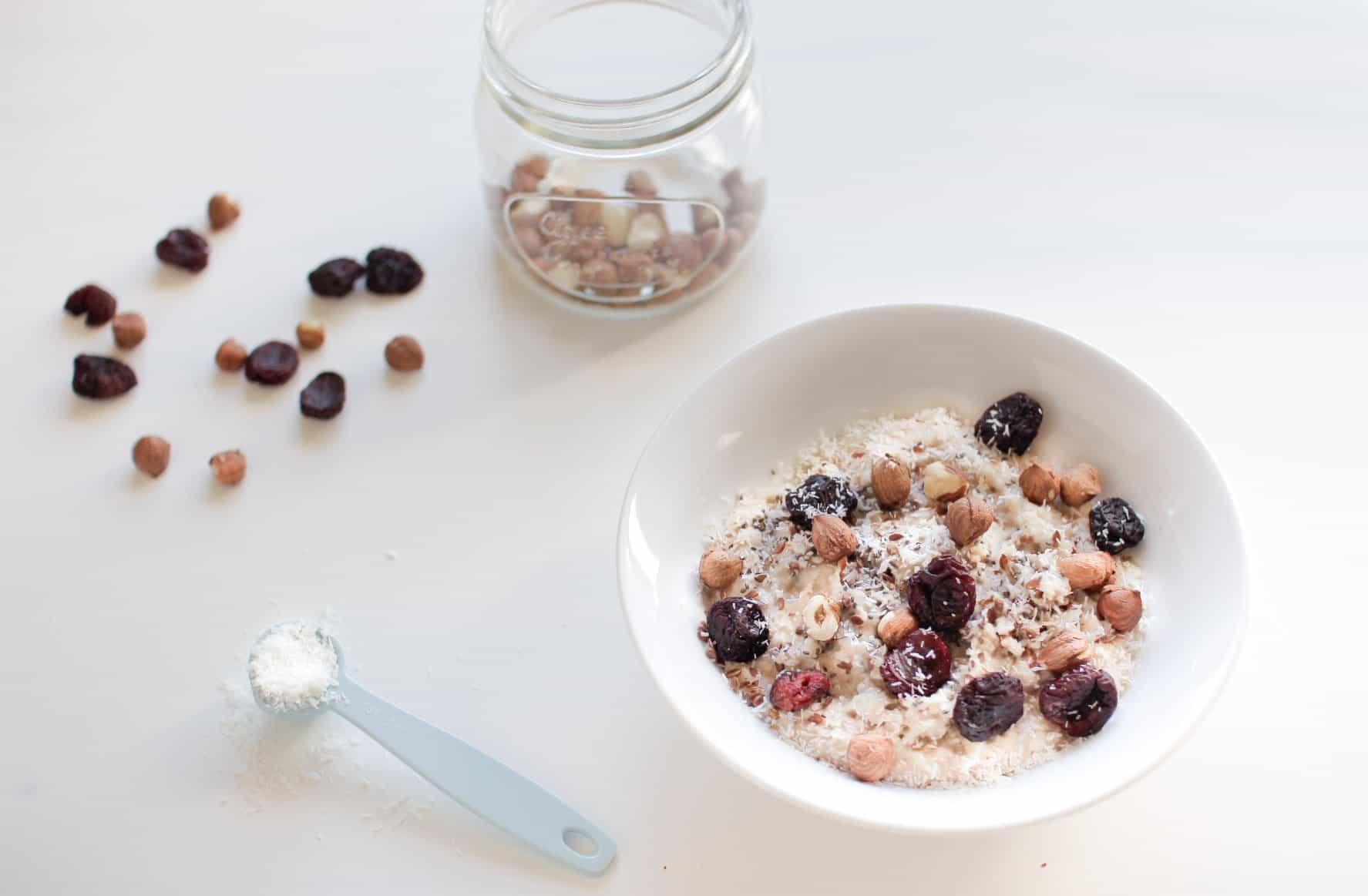 Cherry and Hazelnut Seedy Porridge