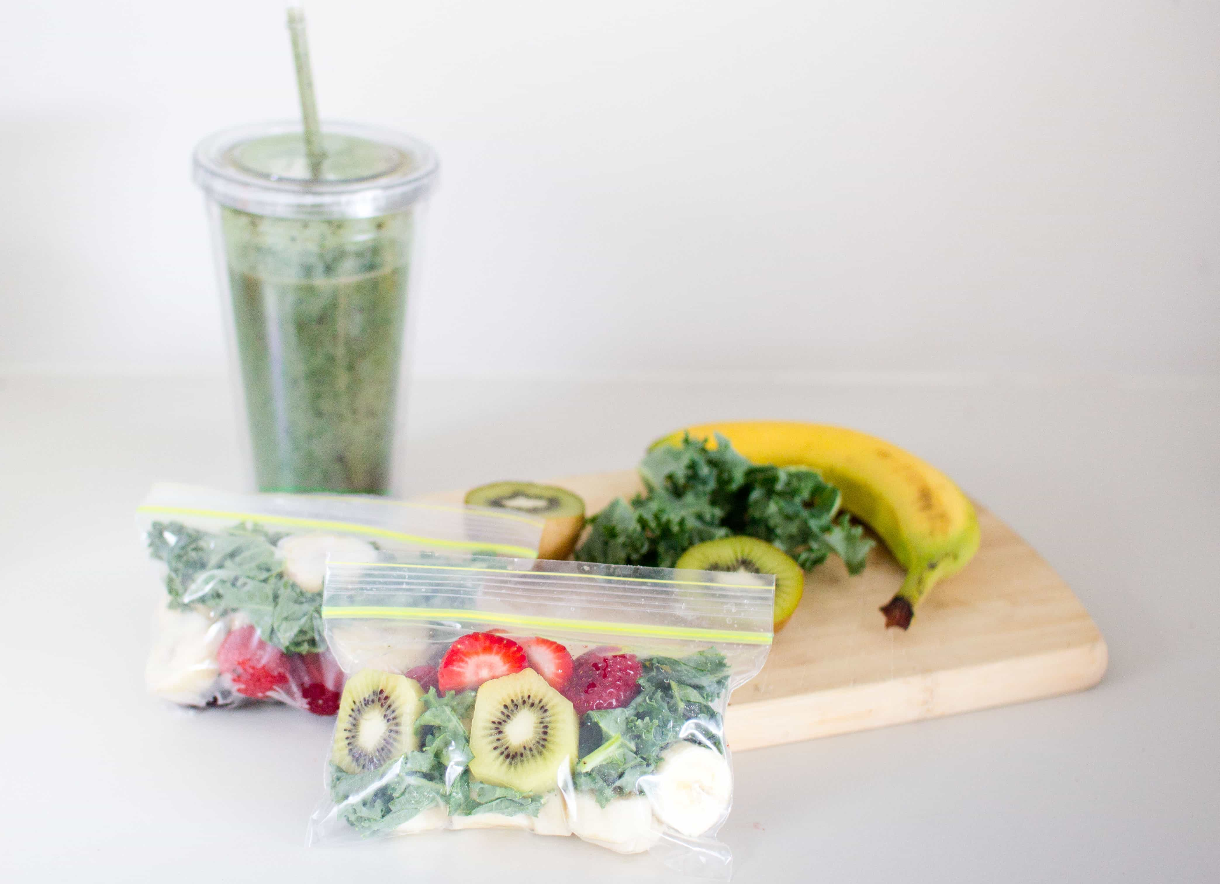 Quick and easy smoothies with smoothie bags