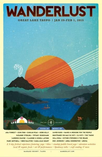 Wanderlust Great Lake Taupo 2015 (poster)
