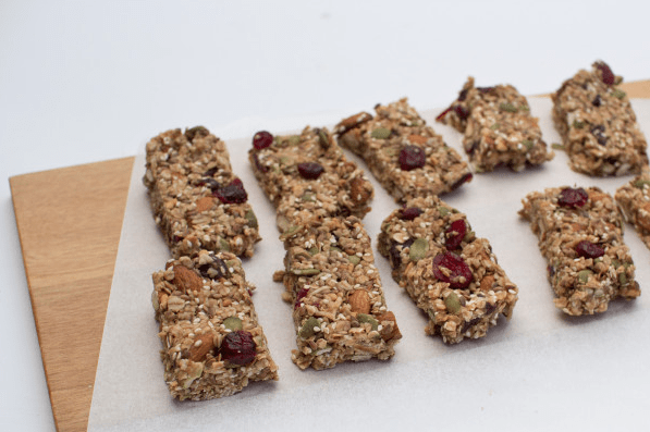 Cranberry Almond Muesli Bars