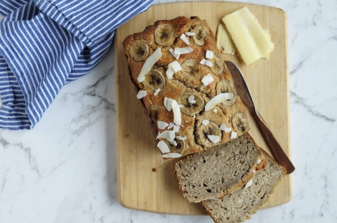 The yummiest banana and coconut bread