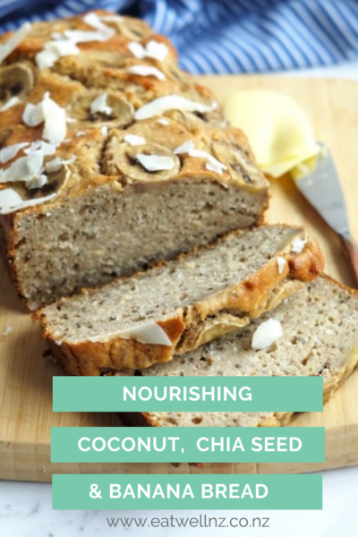 Banana Coconut Chia Seed bread